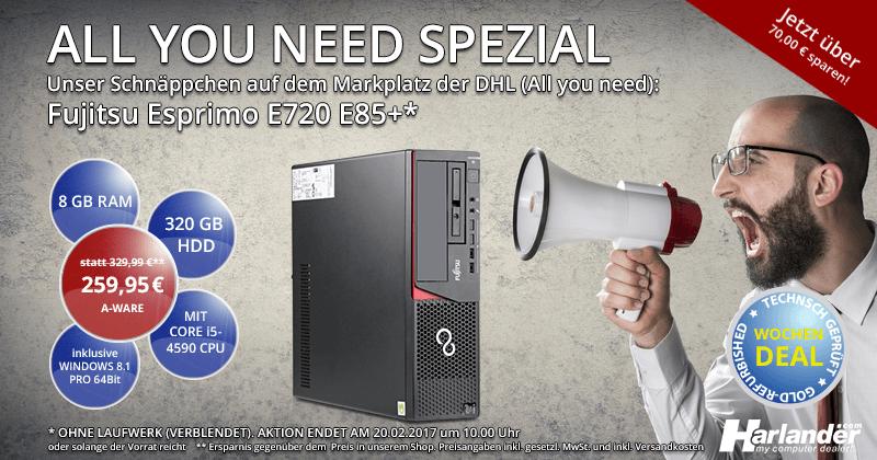 Beitragsbild: Fujitsu Esprimo E720 zum Schnäppchenpreis auf Allyouneed