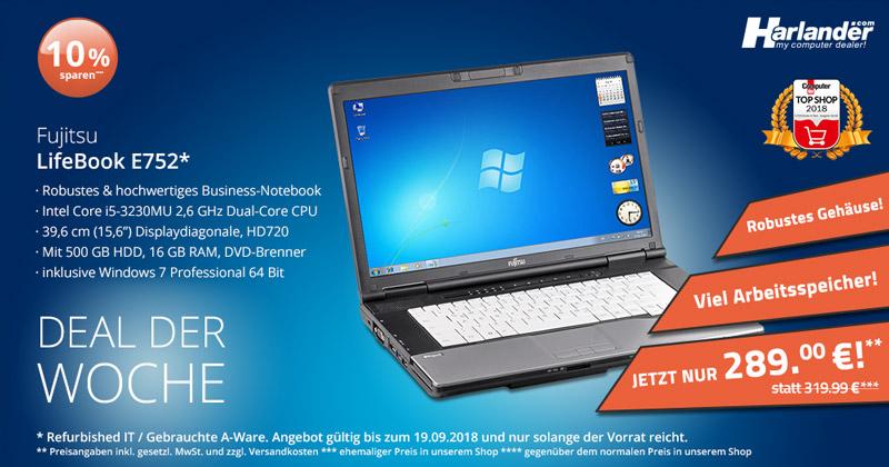 Das Lifebook E752 Notebook von Fujitsu