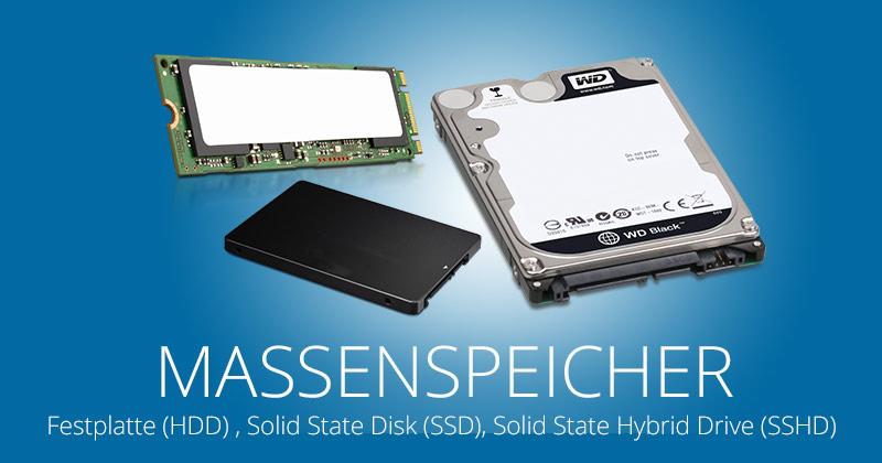 SSD? HDD? SSHD? Moderne Massenspeicher im Vergleich