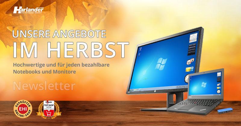Angebote im Herbst – Tolles gebrauchtes ThinkPad & gebrauchte Monitore  » Newsletter 322