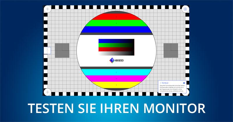 Bild zum Thema Monitor testen