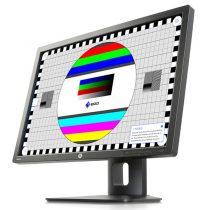 Bild vom HP Z24i im Testbetrieb