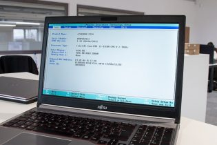 Die BIOS Benutzeroberfläche bei einem Fujitsu E754