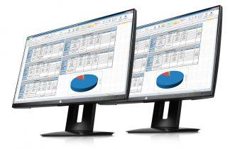 Bild zweier Z23n Monitore von HP