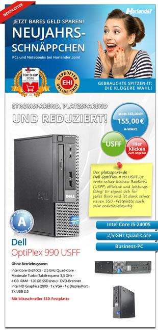 Vorschaubild des Newsletters 333 von Harlander.com mit vielen PC-Schnäppchen
