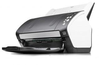 Gebrauchte Scanner der Spitzenklasse. Hier ein Bild des Fujitsu fi-7160 Dokumentenscanners