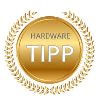 Harlander Hardware Tipp Badge für ausgezeichnete Bildqualität.
