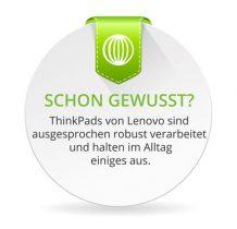 ThinkPads von Lenovo sind ausgesprochen robust verarbeitet und halten im Alltag einiges aus.