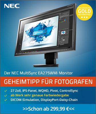 NEC Multisync EA275WMI - Geheimtipp für Fotografen