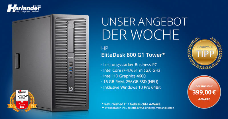HP Elitedesk 800 G1 Tower PC – Angebot der Woche