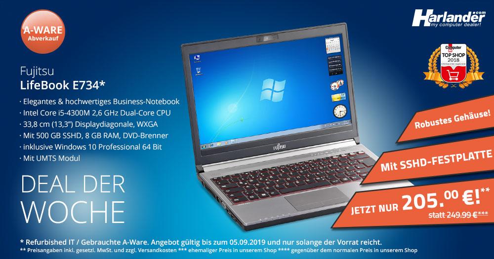 Deal der Woche: das Business-Notebook Fujitsu LifeBook E734 als A-Ware