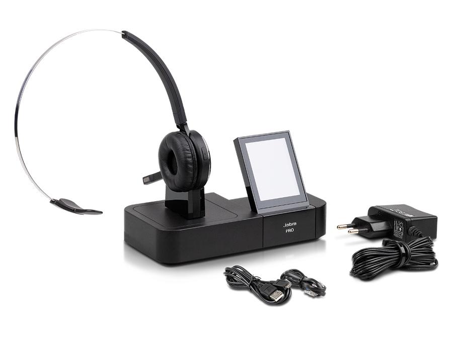 Wertig, ausgereift und im Test mit großartiger Sprachqualität. Das Jabra Pro 9470 Headset
