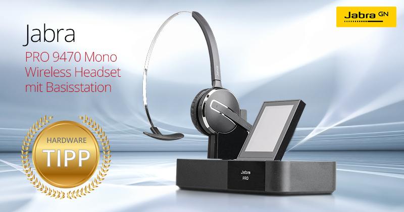 Test: Das Jabra PRO 9470 Mono Wireless DECT Headset ist Hardware-Tipp auf Harlander.com