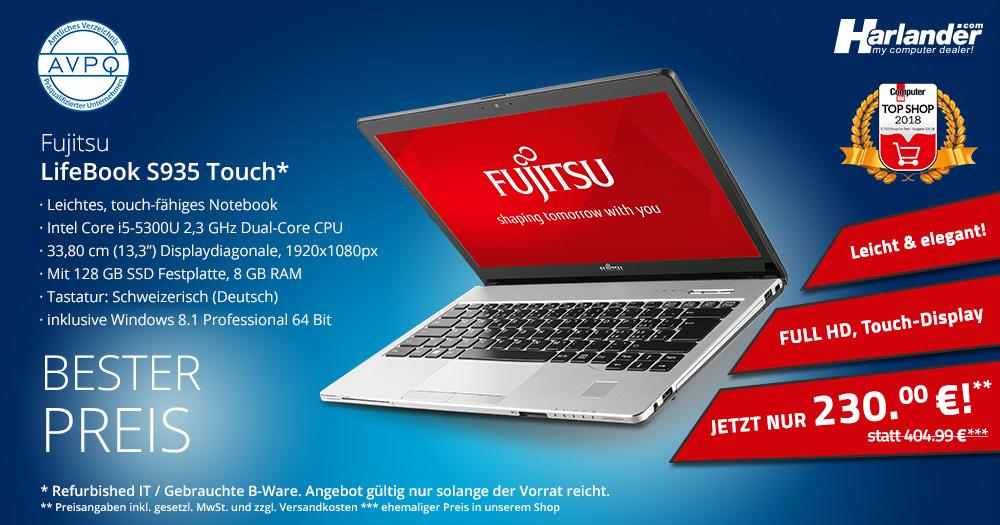 Das Business-Notebook Fujitsu LifeBook S935 als B-Ware sehr günstig