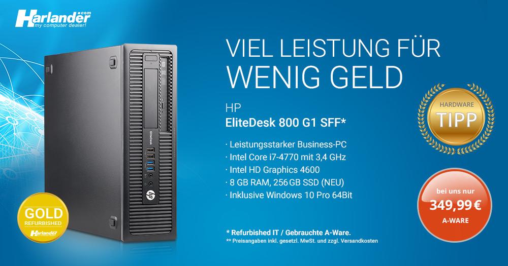 HP Elitedesk 800 G1 SFF PC- mit i7-Prozessor für Ihr Home-Office!