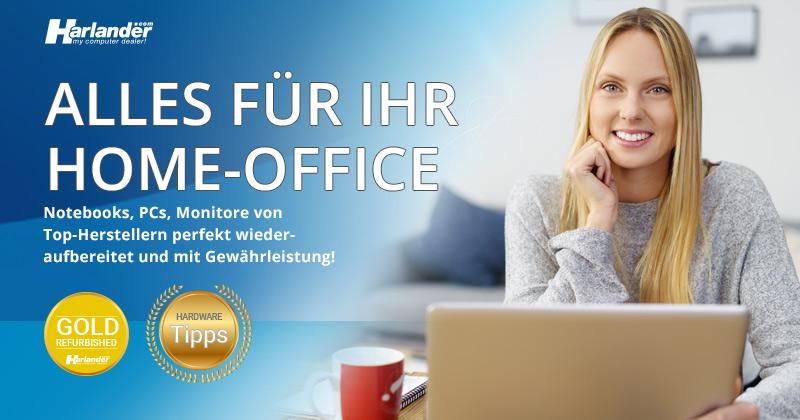 Home-Office leicht gemacht. Mit günstigen gebrauchten Notebooks von Harlander.com