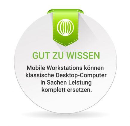 Mobile Workstation nehmen es in Sachen Leistung mit klassischen Desktop-Systemen auf