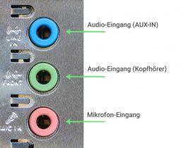 PC Audioanschlüsse Amazon Echo verbinden