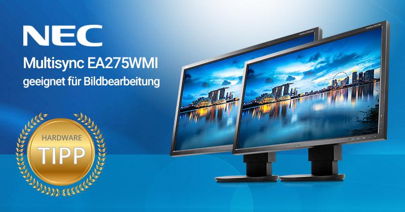 Test: Günstiger Monitor für die Bildbearbeitung. Der NEC MultiSync EA275WMi Monitor mit 27 Zoll
