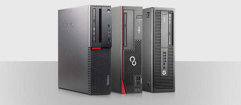 SFF - den beliebten, weil platzsparenden Formfaktor für PCs haben die drei großen Hersteller HP, Lenovo und Fujitsu natürlich auch im Programm