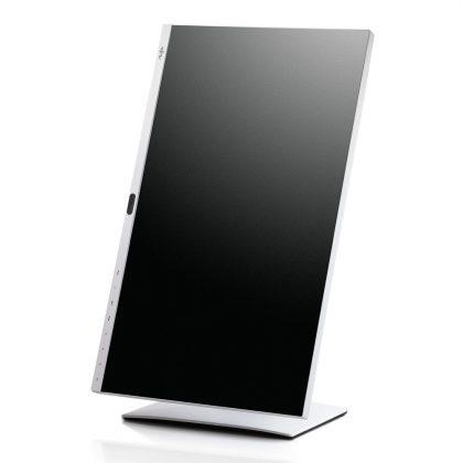 27 Zöller mit Pivot-Funktion. In Sachen Ergonomie punktet der Fujitsu Display P27-8 TE Pro gewaltig!