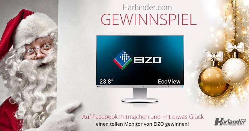 Gewinnspiel zu Weihnachten! Harlander.com verlost 2020 einen Top-Monitor mit 23,8 Zoll von EIZO!