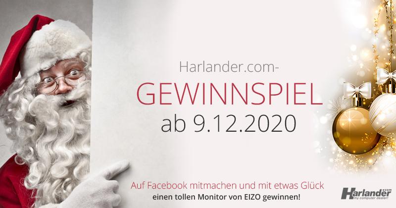 Gewinnspiel zu Weihnachten ab 09.12.2020 – Top-Monitor von EIZO bei Harlander.com gewinnen