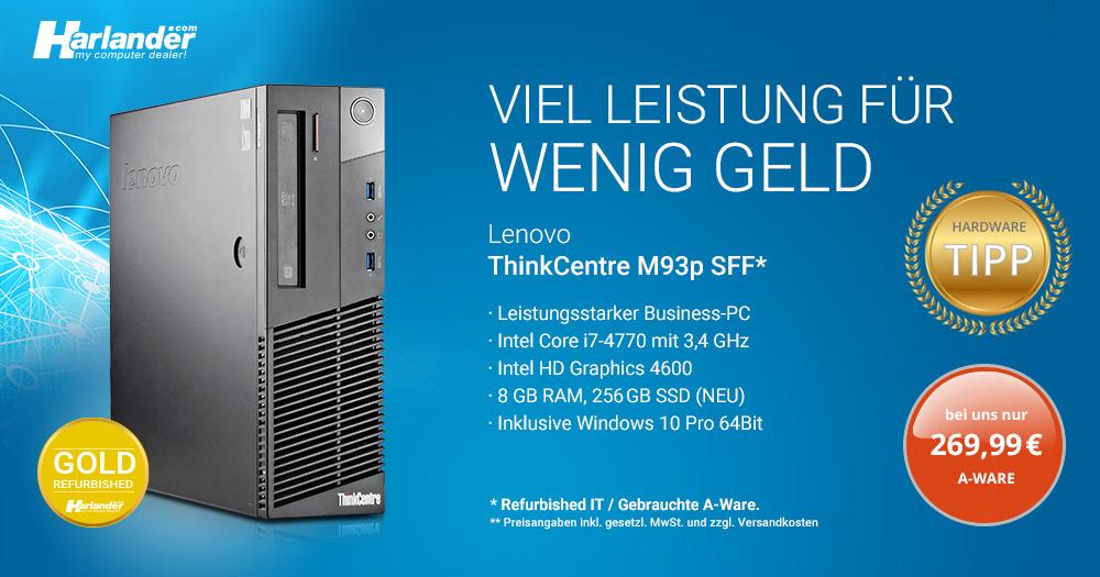 ThinkCentre PC von Lenovo – mit Core i7-Prozessor für Ihr Home-Office!