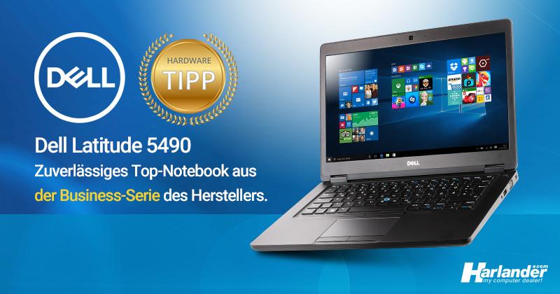 Gebrauchtes Notebook (Top-Business-Serie) mit Webcam von Dell – das Latitude 5490