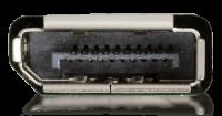 Der DisplayPort ist eine lizenzfreie Schnittstelle zur Übertragung von Bild- und Ton. Ein Standardanschluss für die Verbindung von Monitor und Computer/Notebook.