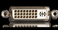 DVI-I kann neben dem digitalen Signal auch ein analoges übertragen