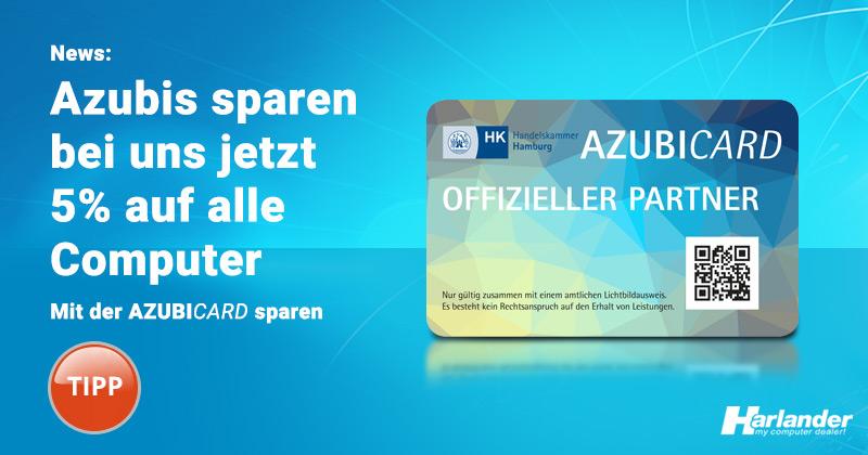 Azubicard Vorteile - jetzt sparen bei offiziellen Partnern wie Harlander.com