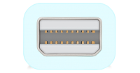 Thunderbolt zählt zu den universellen PC Anschlüssen die sich auch für die Verbindung von Bildschrim / Monitor und Notebok PC eignen