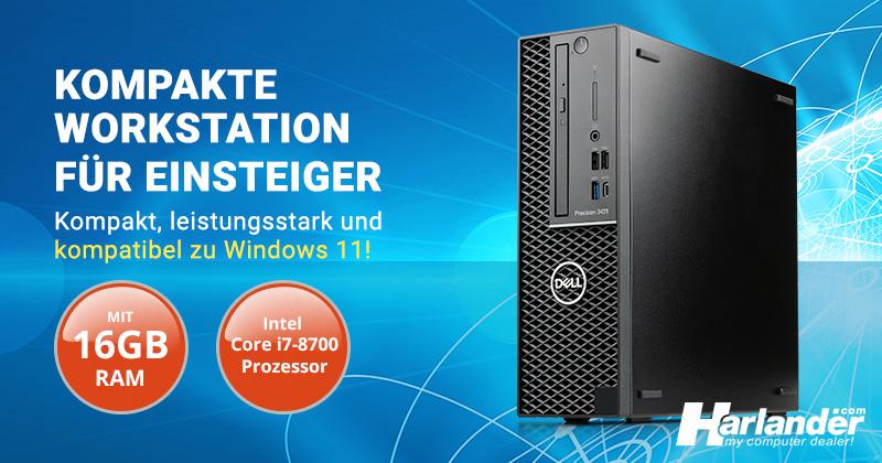 Günstiger gebrauchter Business-PC, kompatibel zu Windows 11: Dell Precision Tower 3431 SFF